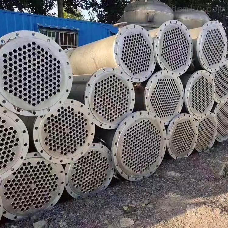 出售一批二手400平方不锈钢列管冷凝器