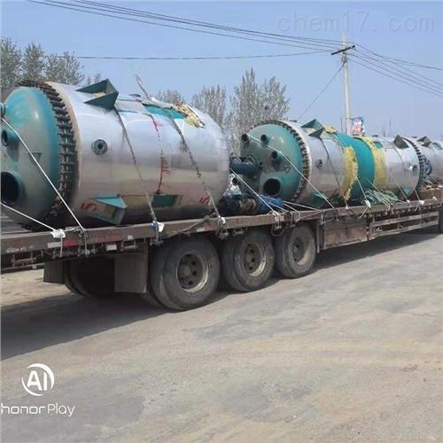 回收二手2-5吨搪瓷反应釜