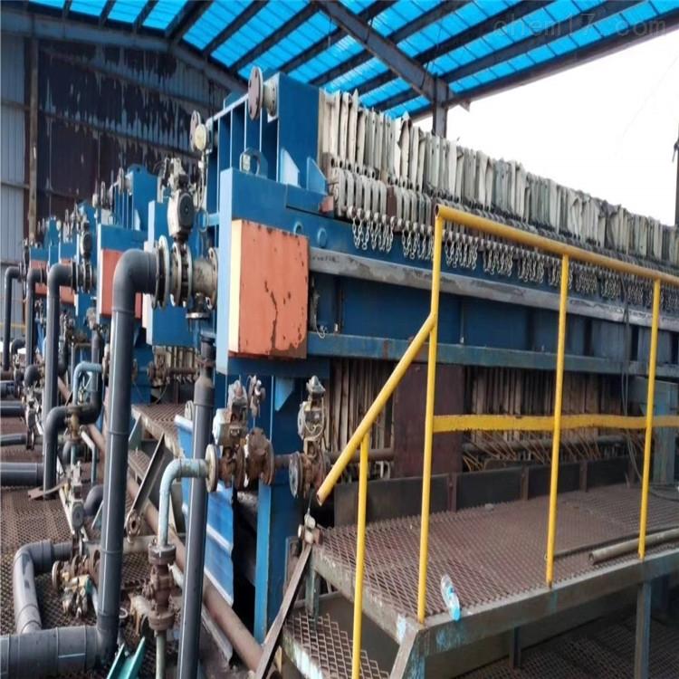 供应二手厢式压滤机滤饼洗涤均匀含水率低