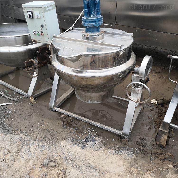 出售200升二手电加热搅拌夹层锅