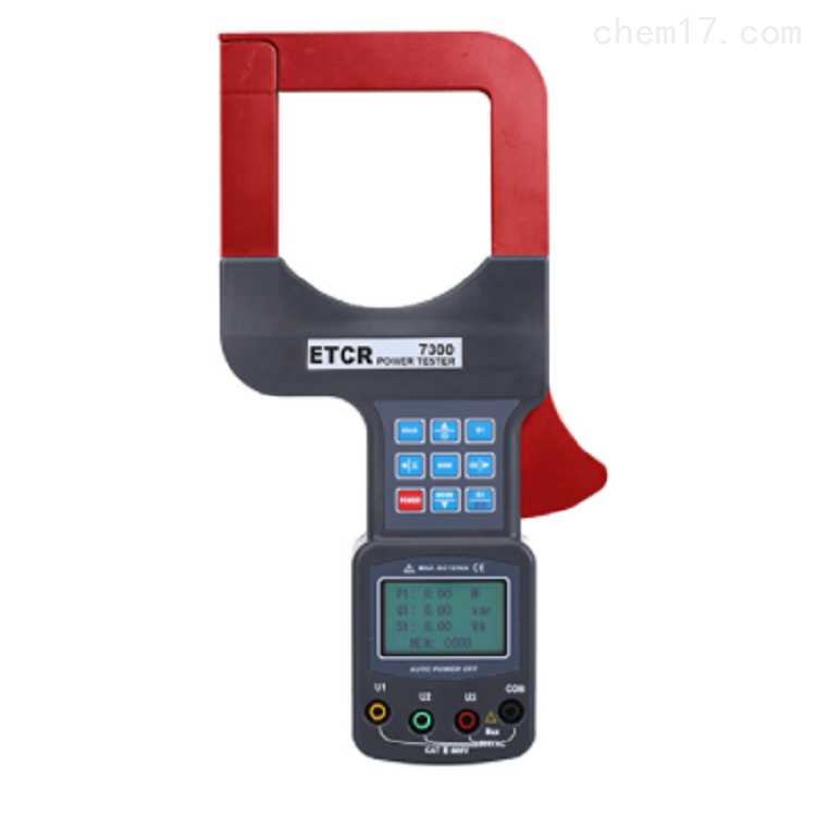 铱泰ETCR7300A大口径三相钳形功率表 电流表