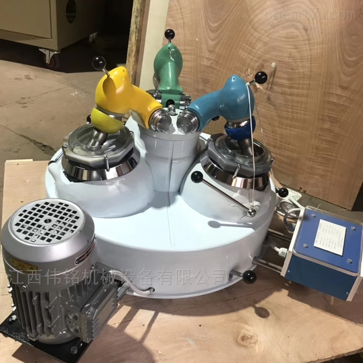 小型制样粉碎机厂家 实验室三头研磨机