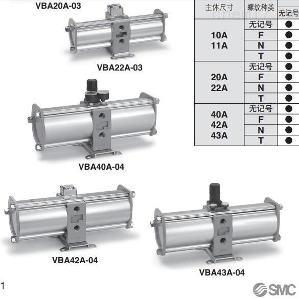 SMC增压气缸