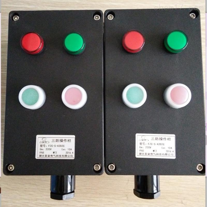 三防操作柱LNZ-B2D2L AC220V防水IP65