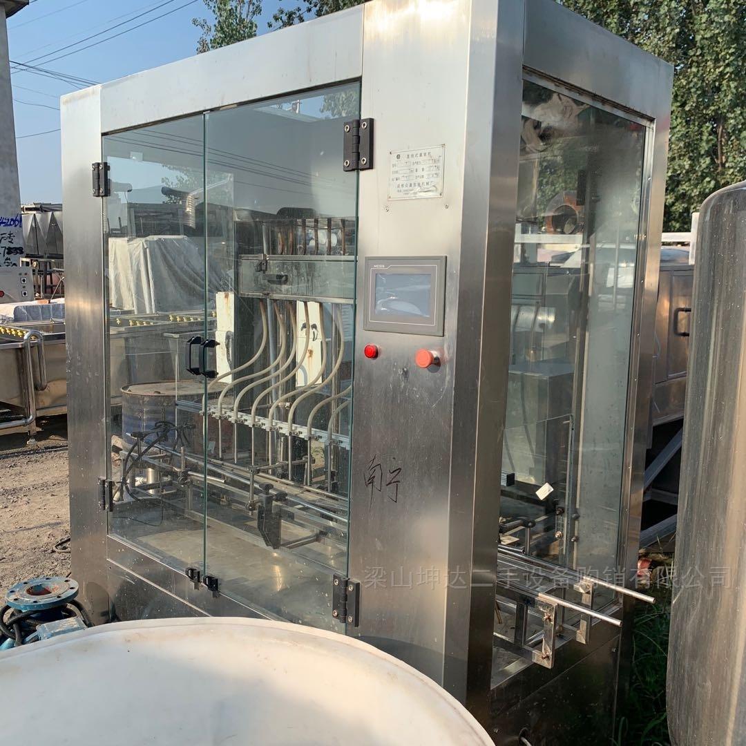 调剂回收二手1-12头直线液体灌装机