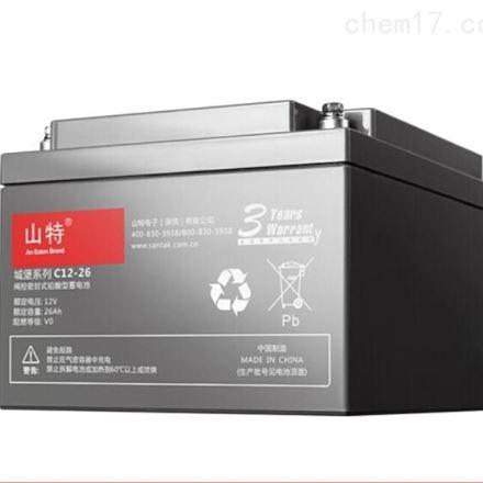 山特阀控式铅酸免维护蓄电池12V26AH