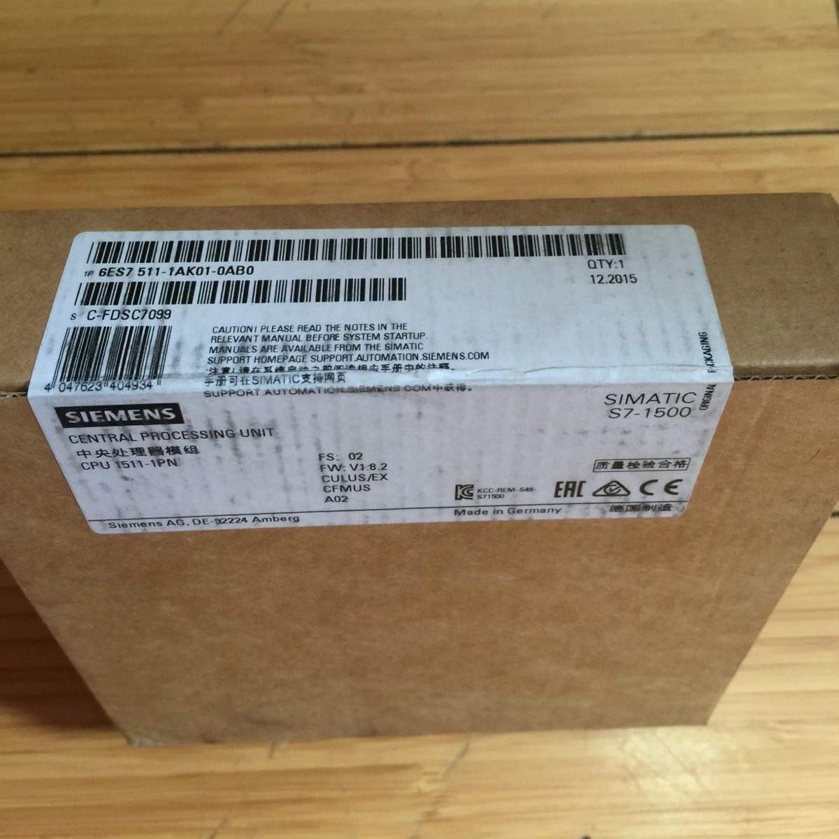 滁州西门子S7-1500CPU模块代理商