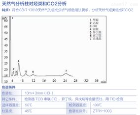 天然气分析柱对烃类和C02分析
