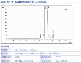 制冷剂分析柱对制冷ji R22的分析