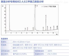酰氯分析柱对2,4,6*基乙酰氯fen析