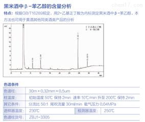 黑米酒中β-苯乙醇的含量分析