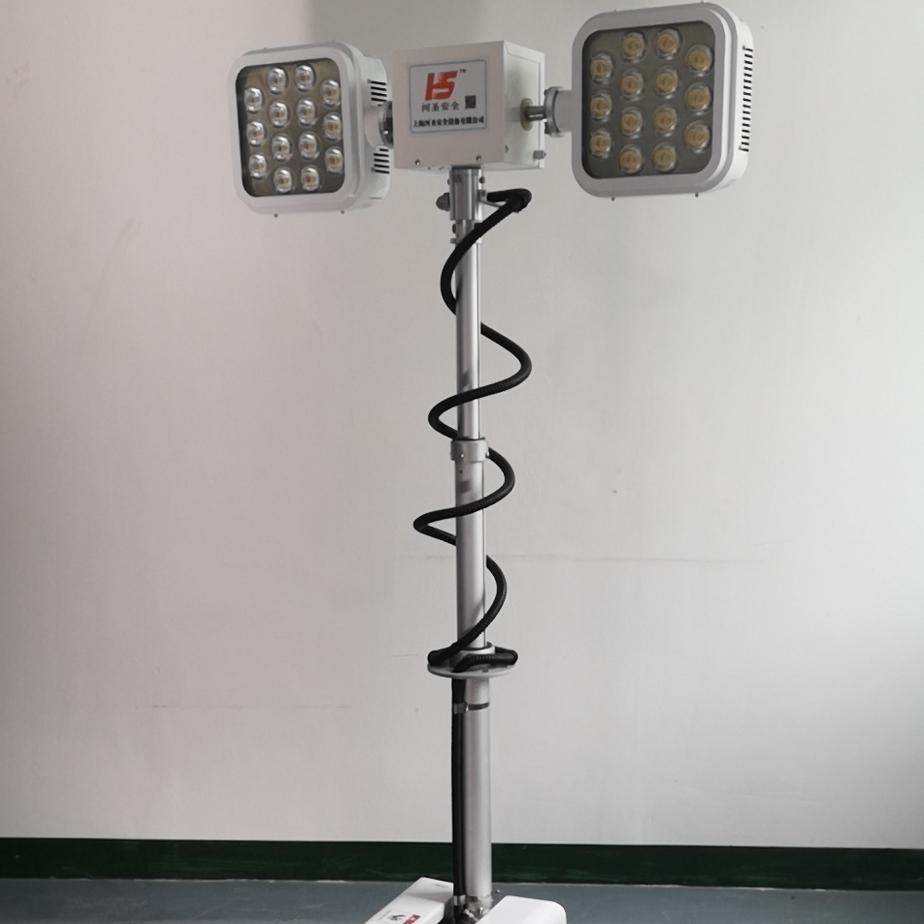 伏杆升降照明灯户外应急直流自动升降泛光灯