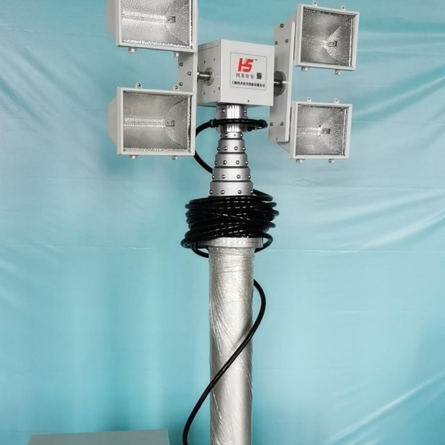 移动升降照明装置 便携式升降探照灯 上门