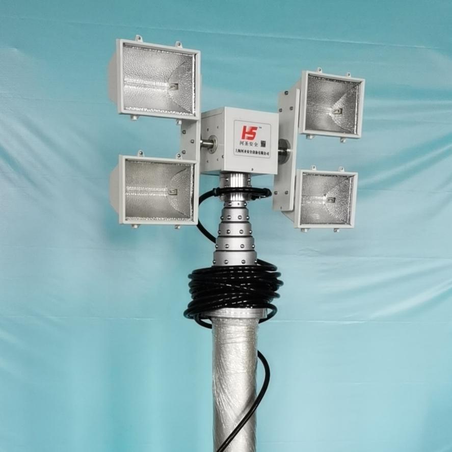 上海河圣 气动式升降灯 4灯头照明灯