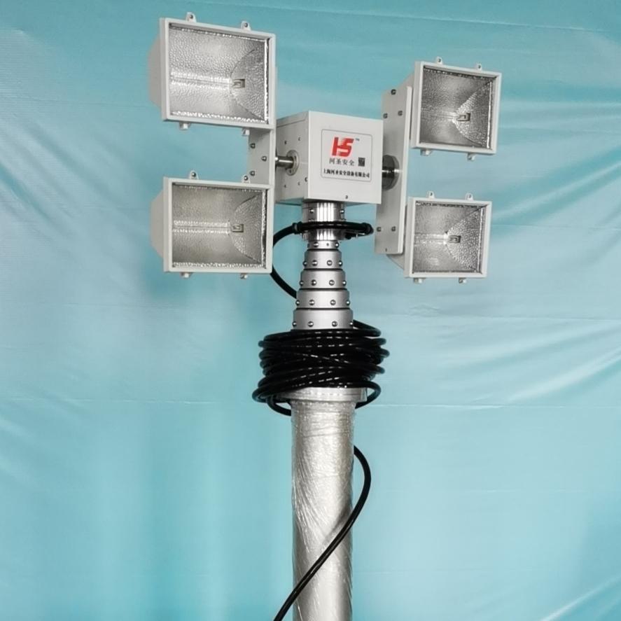 河圣牌 直立式升降照明设备 4灯头照明灯