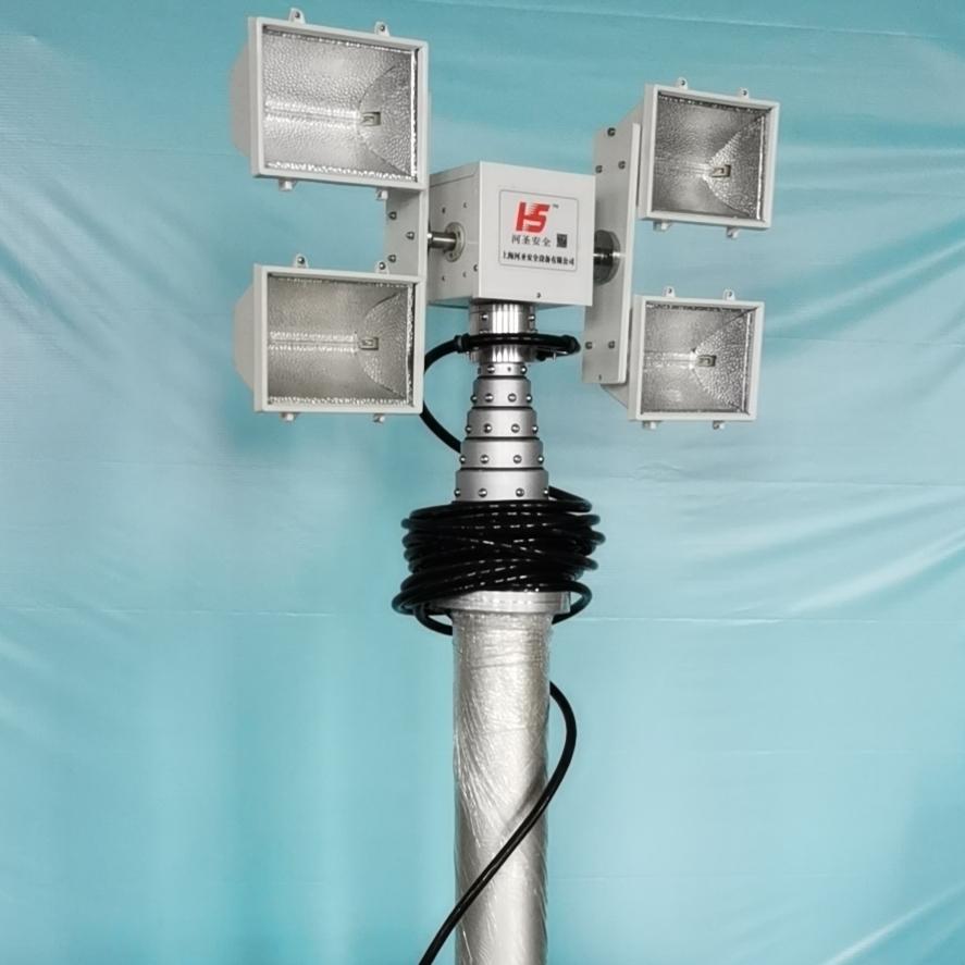河圣安全 车载式升降照明设备 8灯头照明灯