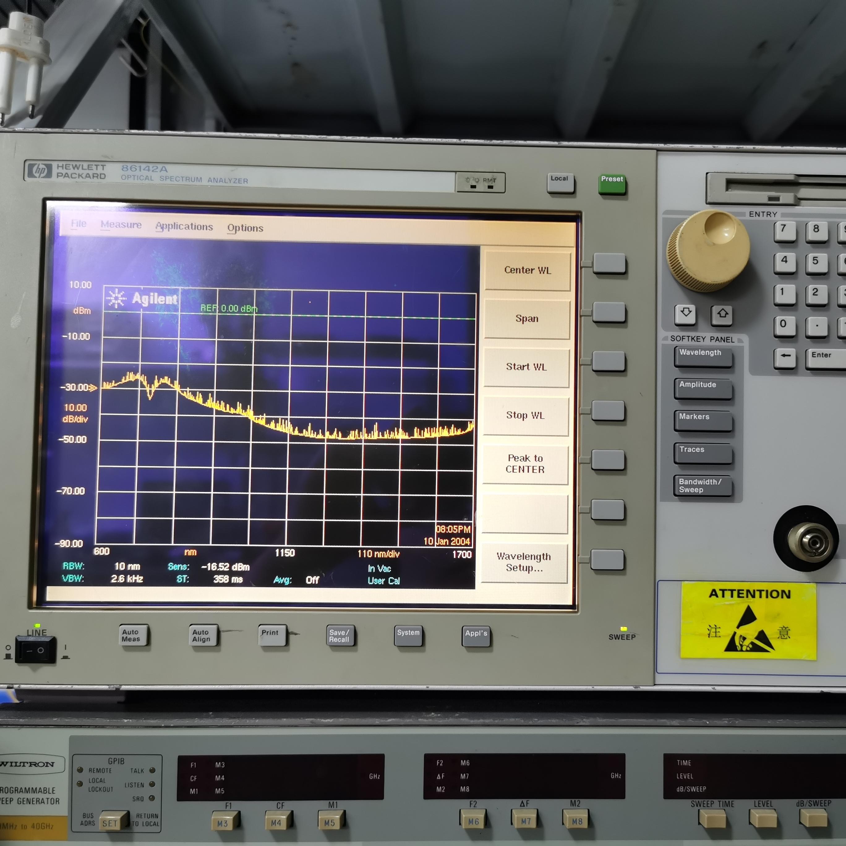 86142B光谱分析仪86142B安捷伦Agilent维修
