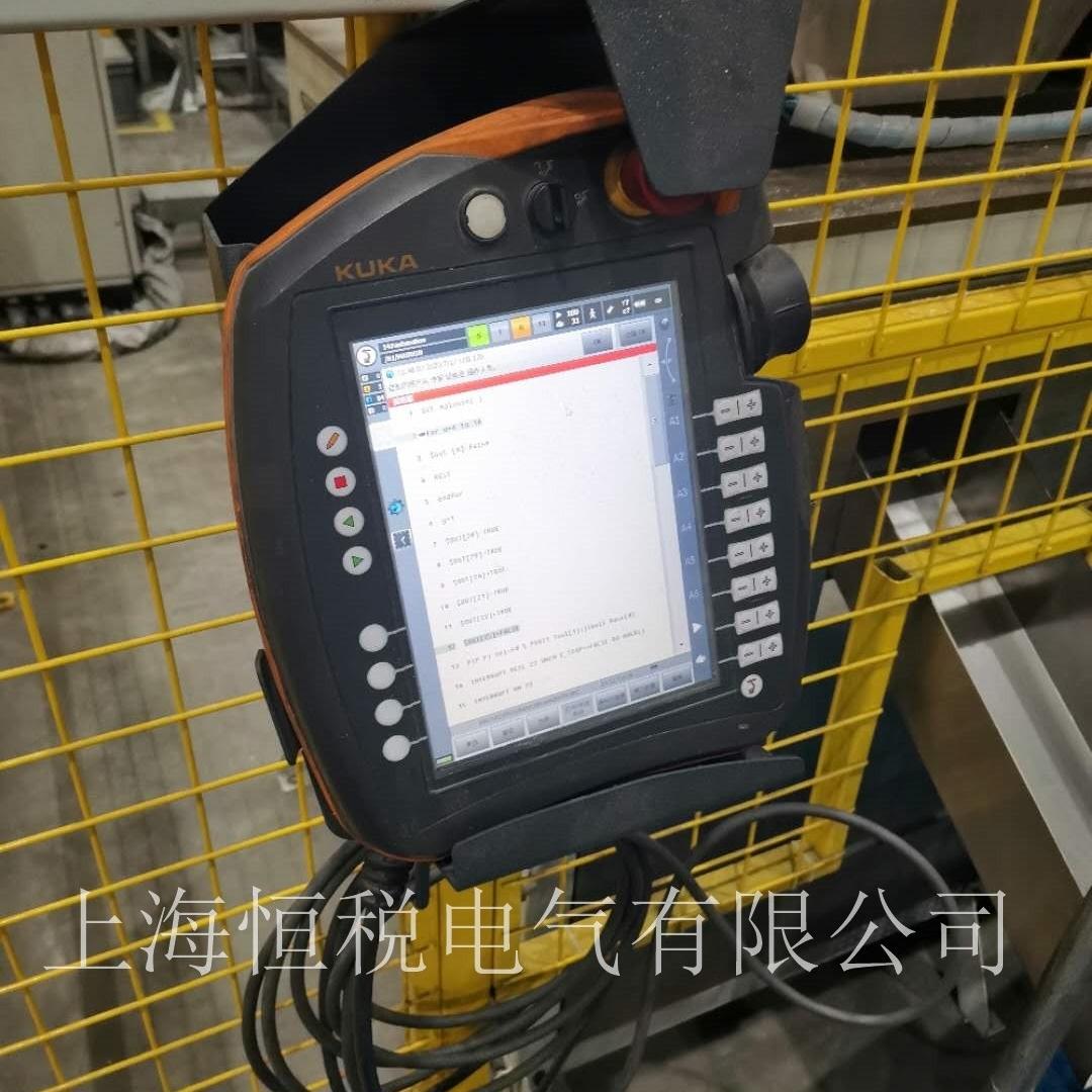 KUKA机器人示教器启动停在开机画面不动维修