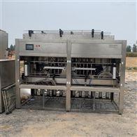 二手高粘度液体 凝膏柱塞式直线灌装机
