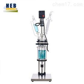 防爆2L双层玻璃反应釜(器)EXHEB-2L