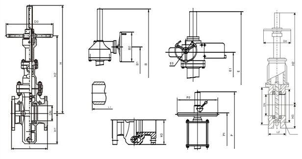 带导流孔平板闸阀结构图