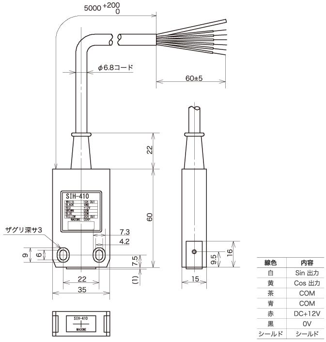"""增量式线性编码器磁性检测头""""SIH-410"""