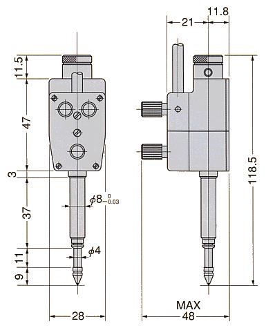 外形尺寸:SC-2A
