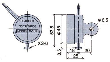 外形尺寸D-5UZ,带XS-6