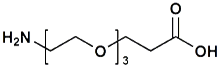 H<sub>2</sub>N-PEG<sub>3</sub>-CH<sub>2</sub>CH<sub>2</sub>COOH