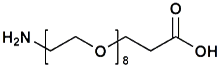 H<sub>2</sub>N-PEG<sub>8</sub>-CH<sub>2</sub>CH<sub>2</sub>COOH