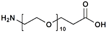 H<sub>2</sub>N-PEG<sub>10</sub>-CH<sub>2</sub>CH<sub>2</sub>COOH