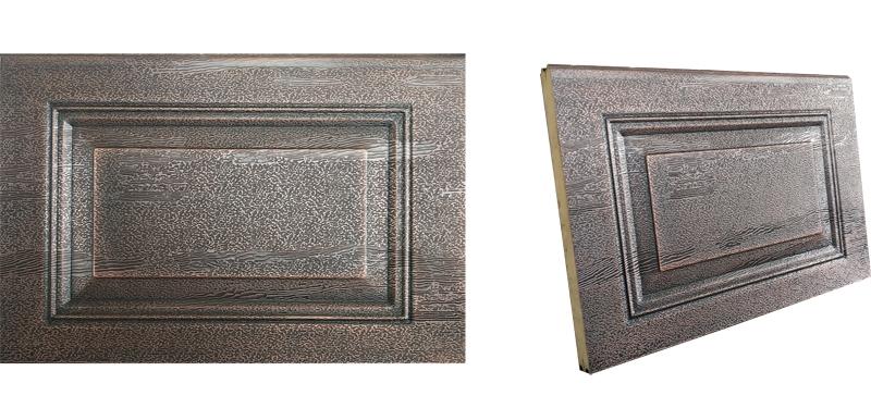 铜质车库门面板材质
