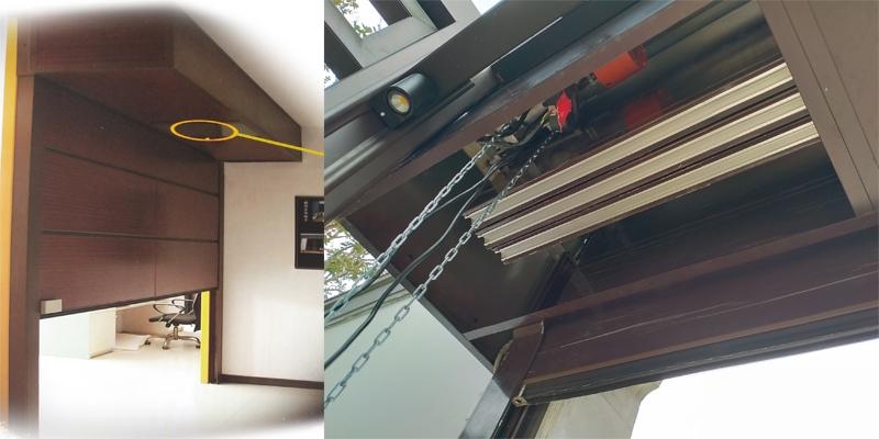 铝合金透视排挂车库门运行方式